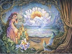 "Missing You Card ""Waiting"" Missing You Greetings Card by Josephine Wall"